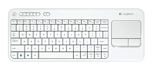 Foto Logitech Touch K400 Tastiera Wireless con Touch-Pad Integrato, Bianco [Layout Italiano QWERTY]