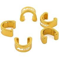 MSC Bikes Alu6061. 5uni - Clip para sujetar cables al cuadro de ciclismo, color oro anodizado