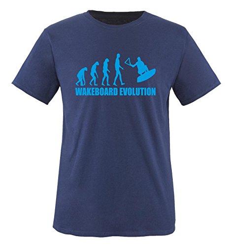 R1 - WAKEBOARD EVOLUTION -Herren T-Shirt in Navy/Blau Gr. M