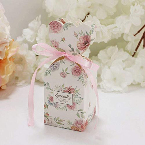 bjtgy 10pcs/Marble Design Hochzeit Dragees Box Blume