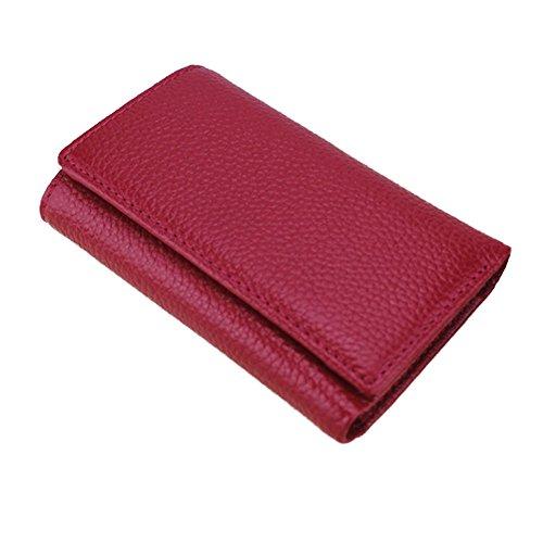 Borsa di cuoio reale della borsa del sacchetto della moneta della borsa di cuoio delle signore delle donne nuovo, borsa di viaggio di cuoio di lusso (colore rosso) Rosso