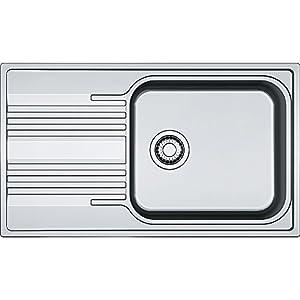 Franke 101.0368.324 – Fregadero de cocina (acero inoxidable, lino, SRL 611-86), color gris