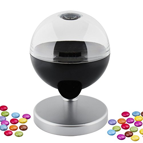 Kids Novelty One Touch Candy Dispenser Machine Sweet Gumball Nut Chocolate Mints Snack Size Portion Party Fun Home by Sabar
