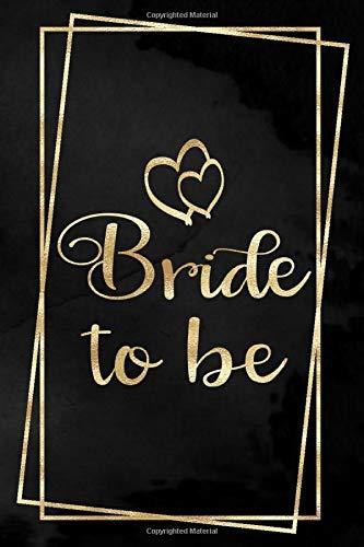 Bride to be: Liniertes Notizbuch für die Braut oder den JGA | 6 x 9 Zoll, ca. A5 |100 Seiten | Dot-Grid | Braut-Motiv | Notizbuch zur Vorbereitung der Hochzeit oder des JGA
