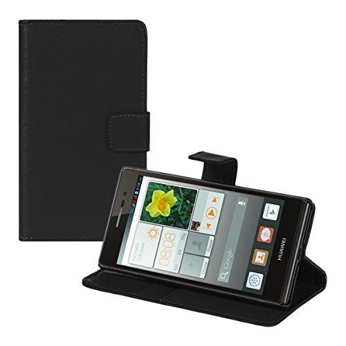 kwmobile Huawei Ascend P7 Hülle - Kunstleder Wallet Case für Huawei Ascend P7 mit Kartenfächern und Stand