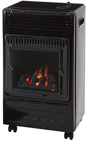 Favex EKTOR Fire Chauffage au gaz, Noir, 42x40x72 cm