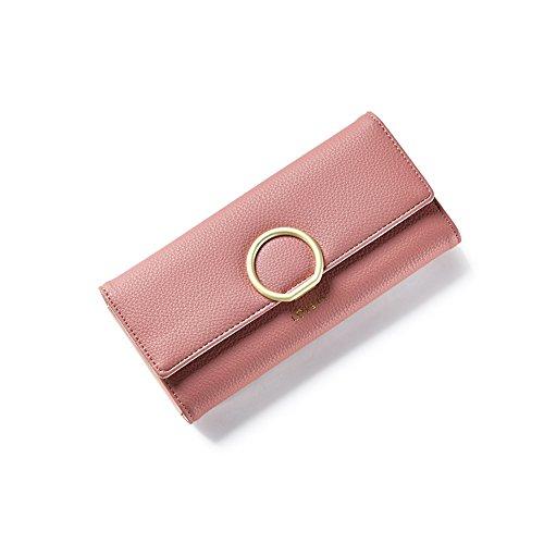 Yvonnelee Donne Della Signora Frizione Lungo Della Borse Borsa UP cuoio Della Carta Portafoglio Leather Titolare Rose