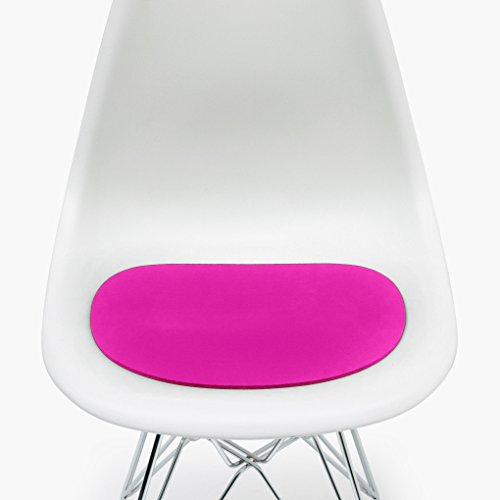 Hey-Sign Sitzauflage Eames Sidechair antirutsch, pink Filz