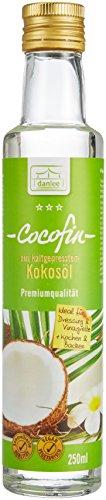 Danlee Cocofin aus Kokosöl -bleibt flüssig, 1er Pack (1 x 250 ml) -