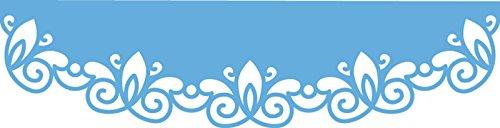 Marianne Design LR0396 Creatables Gebogener Rand - Stanzschablone und Prägeschablone für die Kartengestaltung/Scrapbooking, Metal, blau, 13 x...