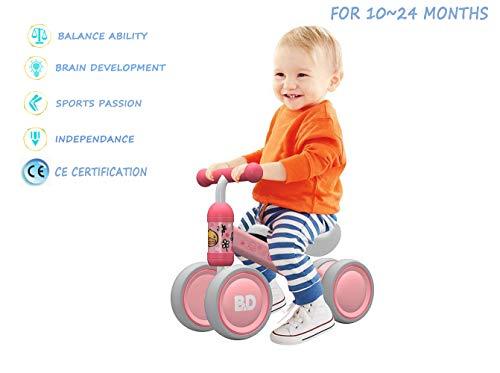Bicicleta para Bebés de 1 Año Draisinne Chica Niño 10-15 Meses Juguetes Regalo de Aniversario 1 Años Bicicleta Bebé Equilibrio (Pato Rosa)