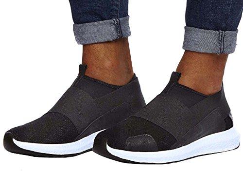 LEIF NELSON Herren Schuhe Freizeitschuhe Elegant Winter Sommer Freizeit Schuhe Männer Sneakers Sportschuhe Laufschuhe EU 44 Schwarz