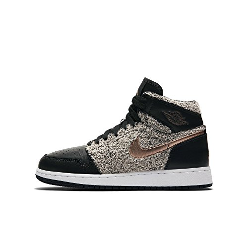 Nike Kinder Air Jordan 1 Retro High GG Schwarz Textil/Synthetik Sneaker 36.5 (Für Jordan Retro Air Jungen)