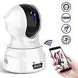 cámaras de vigilancia, cámaras en Domo, cámara IP WiFi Interior 1080P con HD visión Nocturna, detección de Movimiento, Monitor para bebés/Ancianos/Mascotas/prevención de robos en los hogares