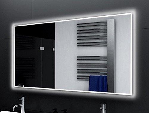 Badspiegel Designo MA4111 mit A++ LED Beleuchtung - (B) 120 cm x (H) 80 cm - Made in Germany - Technik 2019 Badezimmerspiegel Wandspiegel Lichtspiegel TIEFPREIS rundherum beleuchtet Bad Licht Spiegel