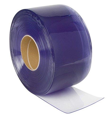 PVC-Streifen Rollenware, 3 x 300 mm, 25 m, transparent / durchsichtig, zur Verwendung als Streifenvorhang, Lamellenvorhang oder Industrievorhang. Wetterfest und witterungsbeständig, Weich-PVC Meterware auf Rolle.