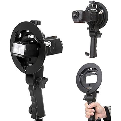Fomito S-Type II Bowens soporte para Flash Soporte para linterna de luz Octobox Beauty Dish Snoot y reflectante paraguas