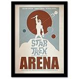 Pyramid International Star Trek Arena - Lámina enmarcada (tamaño A3), diseño de Star Trek