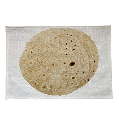 Y56(TM) Kreativ Lustig Mexikanische Burritos Platzsets Waschbare Stoff Tischset Esszimmer Küchentisch Bar Tischsets -