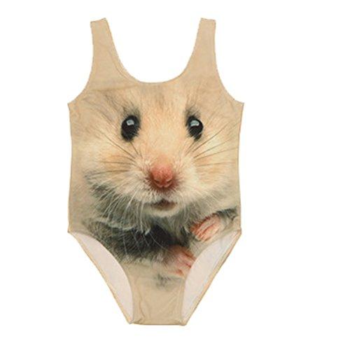 One Piece Bikini ärmellos Badeanzüge Sommer Weste Badebekleidung Baden passt 44 Hamster ()