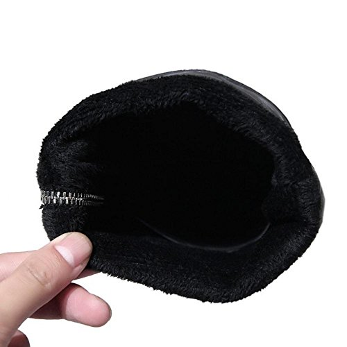 RAZAMAZA Femmes Hiver Fermeture Eclair Bottes Cheville/Mi-Mollet Black-38