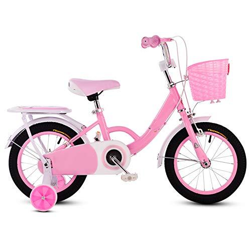 YUMEIGE Kinderfahrräder Kinderfahrräder mit Stützrad Kinderfahrrad 12 14 16 18 Zoll Geeignet für 3-9 Kinder Jahre alt Geschenk Rosa Lila (Color : Pink, Size : 14in)