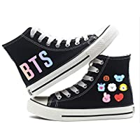 BTS Black Fashion Sneakers For Women