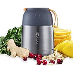 720°DGREE Thermobehälter Warmhaltebox WunderJar 450ml | Premium Isolierbehälter Box für Warme Speisen, Babynahrung, Essen, Suppe | Perfekter Edelstahl Isolier Behälter
