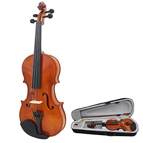 Hnks Violino Finto Lucido Fiddle Case Studente Violino Acustico principiante 4/4 Full Size Acero Solido Legno Violino Confezione Dura con Accessori Arco Chin Rest Ponte colofonia