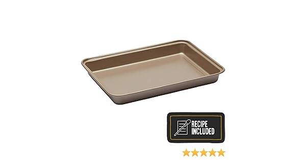 Champagne 27.6 x 20 x 3 cm Stahl Kitchen Craft Brownie-Blech 27x20x3cm