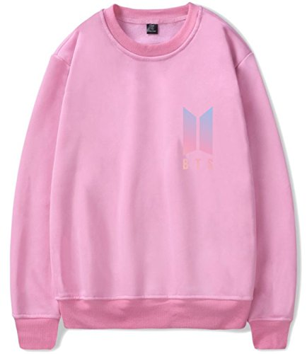 SERAPHY Unisex BTS Felpa Felpe con cappuccio BTS Pullover girocollo super confortevole Suga Jin Jimin Jung Kook J-Hope Rap-Mostro V rosa-95-JIMIN