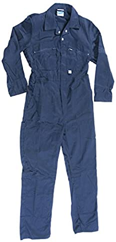 Blue Castle 366/NV-34 34-Inch Zip Front Coverall Boilersuit - Blue