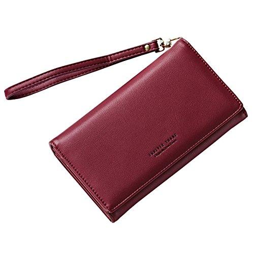 Sasairy Portafoglio Donna in PU Pelle con Catena Portamonete Donna con  Tasca per Carte di Credito 2464321e068
