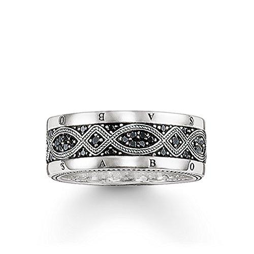 Knot Ring (THOMAS SABO Unisex Bandring Love Knot Ring 925er Sterlingsilber, Geschwärzt TR2006-051-11)
