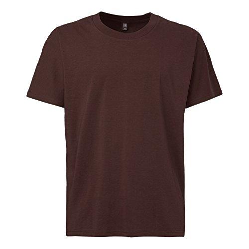 THOKKTHOKK Herren T-Shirt Dunkelbraun Bio Fair, Größe:M