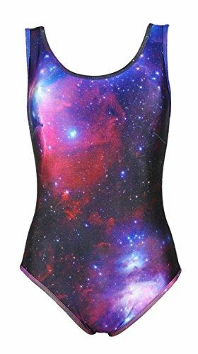 Maru Badeanzug (Fetziger Badeanzug Gr. 36/38 mit Galaxy Print)