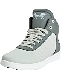 [Sponsored]WESTCODE Men's Grey Synthetic Leather High Top Casual Shoes And Sneakers