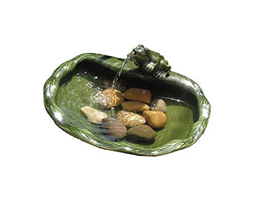 Solar Wasser Spiel Garten Brunnen Deko Springbrunnen Zier Brunnen Garten Dekoration Keramik Frosch
