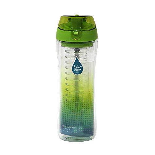 LOCK & LOCK Trinkflasche INFUSER BOTTLE mit Fruchteinsatz in Grün, bpa frei & auslaufsicher - Sportflasche mit Frucht-Einsatz - Sport Flasche, 650ml
