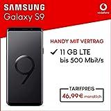 Samsung Galaxy S9 (midnight black) 64GB Speicher Handy mit Vertrag (Vodafone Smart XL) 11GB Datenvolumen 24 Monate Mindestlaufzeit