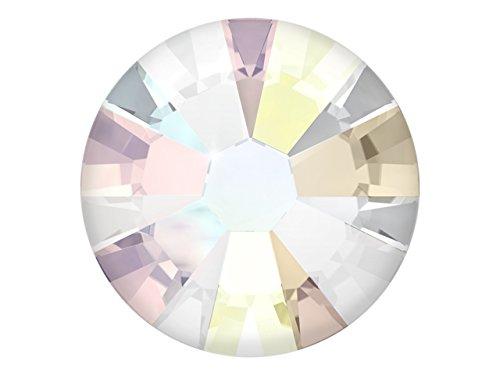 100 Nail Art Kristalle - SWAROVSKI Crystal - XILION Rose - Flat Back No Hotfix - Nagel-Design Strass Steine zum Aufkleben - crystal - aurore boreale 2.55mm