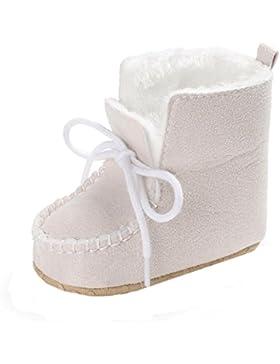 Fuibo Babyschuhe, Baby Mädchen weiche Sohle Krippe warmen Knopf Wohnungen Baumwolle Boot