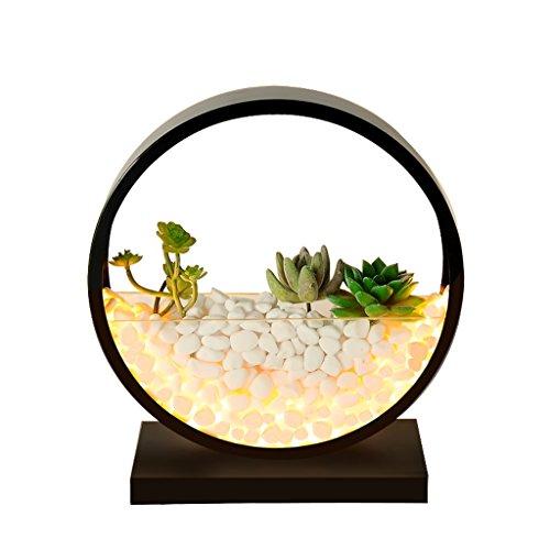 Lámpara de Mesa Minimalista Nórdico Lámpara De Mesa Creativa LED, DIY Piedra Planta Luces Decorativas, Salón Dormitorio Lámpara De Mesa Lámpara Escritorio - Luz Caliente (tamaño : 25cm-8w)