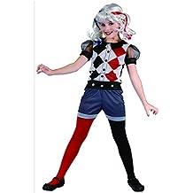 Disfraz Arlequina heroína niña