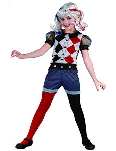 Generique - Kostüm Harlekin für Mädchen! 134/140 (10-12 ()