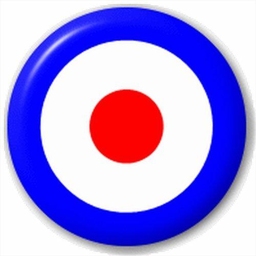 (D Pin) 25mm ReversPin Button Badge: Mods Ziel Bogenschiessen - Mod-button