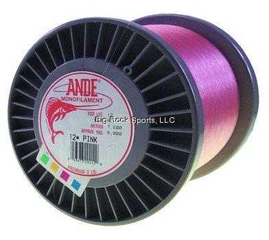 ANDE A2–12P Premium Monofilament, Schlosserhammer, Spule, 12-pound Test, Pink Finish