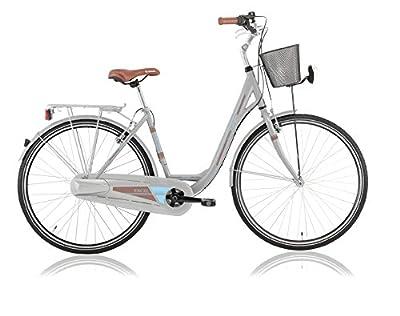 28 Zoll Kinder Damen Mädchen City Fahrrad Bike Rad Nabenschaltung 3 GANG NEXUS EUROPA LADY SILBER