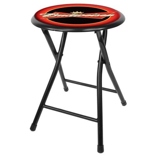 budweiser-18-inch-cushioned-folding-stool-black