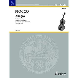 Allegro G-Dur: Violine und Klavier. (Edition Schott)